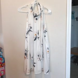 Size XS cream colored floral dress